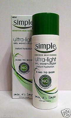 SIMPLE SENSITIVE SKIN EXPERTS ULTRA-LIGHT GEL MOISTURIZER ALL NATURAL 44ML UK