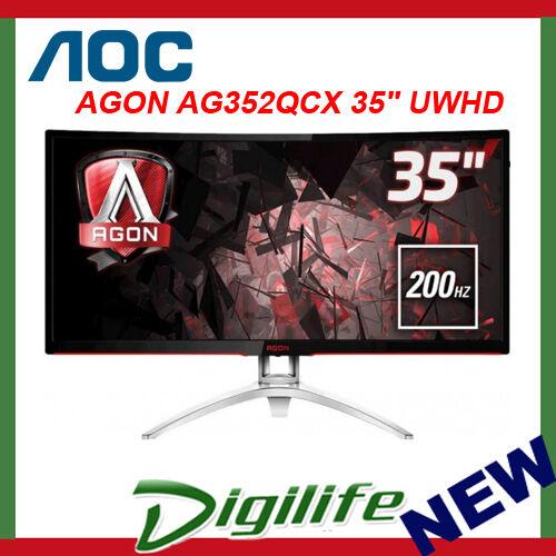 "AOC AGON AG352QCX 35"" UWHD 200Hz FreeSync Curved Gaming LED Monitor"