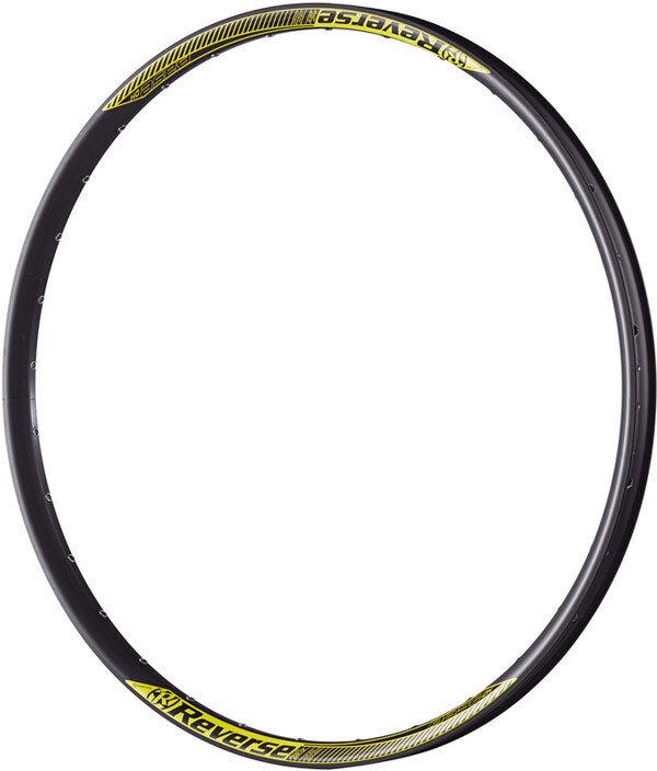 Reverse Base DH Felge 650B, 32loch schwarz gelb  | Sehr gute Farbe