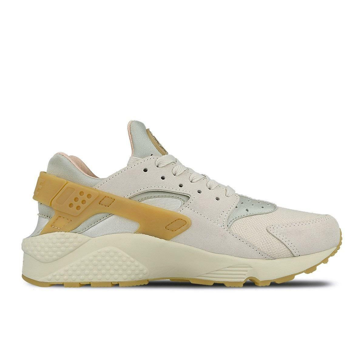 Mens NIKE AIR HUARACHE RUN SE Beige Trainers 852628 004