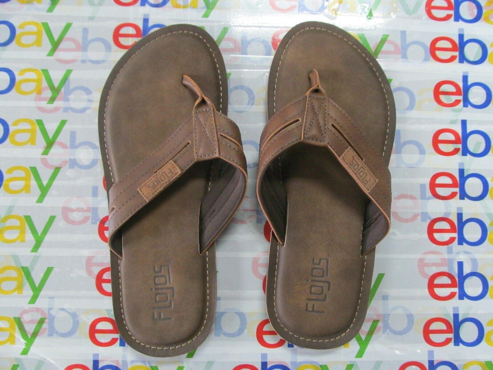 Flojos Men's Flip Flop, Tan, Size 8
