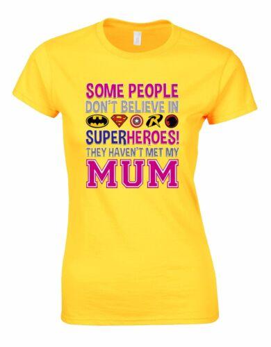 My Mom Superhero Mothers Day Quote Woman Cut Shirt Tshirt Tee Top AA25