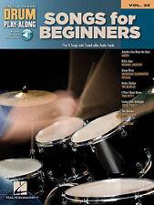 Songs for Beginners Drum Play-along Vol 32 Sheet Music Hal Leonard Book CD
