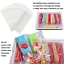 200Pc Popsicle Bags Ice Cream Bags Ice Pop Bags Popsicle Wrappers self sticking