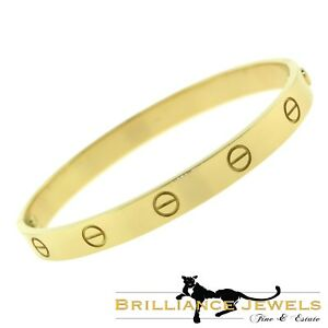 eecddc921ca1 Image is loading AUTHENTIC-Cartier-LOVE-Bracelet-in-18k-Yellow-GOLD-
