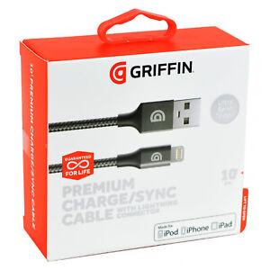 249c603bc6f2 Genuine Griffin 3M 10 Feet Braided Lightning MFi iPhone X XS XR 8 7 ...