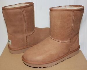 b1497375ff9 Details about Ugg Kids Classic Short II chestnut suede boots 1017703K NEW  With Box