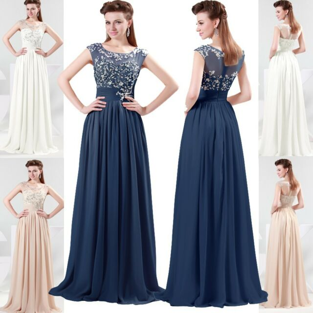 New Chiffon Long Evening Bridesmaid dresses JS  Prom Formal Party Dress Gown