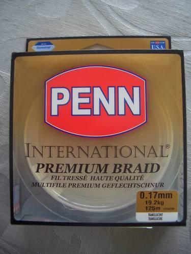 ovp 0,17mm//125m//19,2kg Penn Premium Braid neu