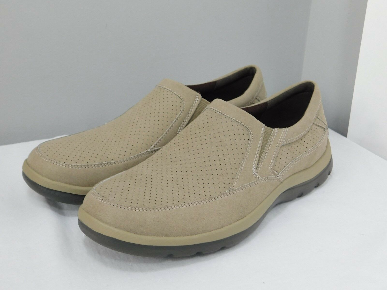 Men's Rockport XCS Tan Suede Casual Loafers Slip-on Size 8.5M