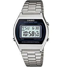 Casio Unisex Chronograph Stainless Steel Vintage Stopwatch Retro Watch Sliver