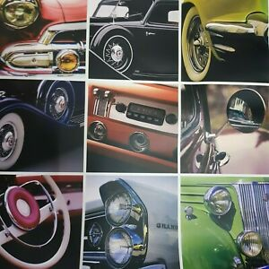 Feature wall Wow Classic Cars Multi Colors Wallpaper Multicolor Designer