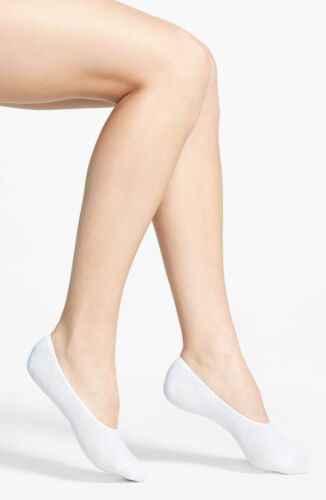 34-37 eur 4 Pairs Ladies Mens White Cotton Invisible Socks shoe Liners 2-5 uk