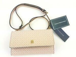 Tommy-Hilfiger-TH-Signature-Pink-Crossbody-Trifold-Wallet-Purse-NWT-MSRP-68