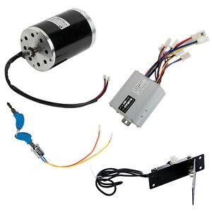 1000W-48V-electric-NO-BASE-motor-kit-w-control-box-key-lock-Foot-Pedal-Throttle