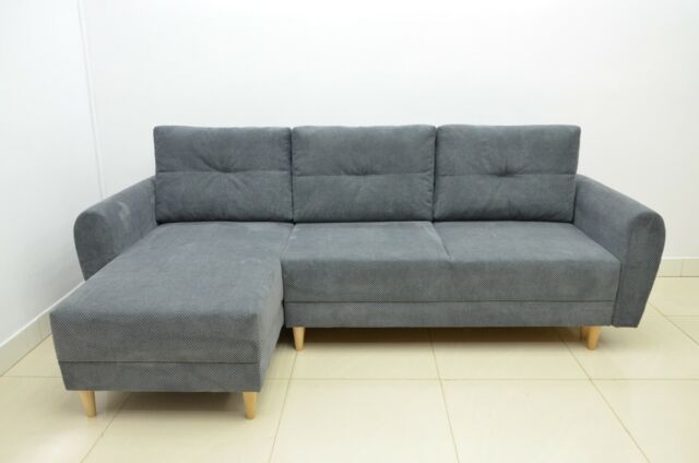 Miraculous 120 Off Super Comfy Corner Sofa Bed Inga Soft Waffle Fabric Dk Grey Sale Forskolin Free Trial Chair Design Images Forskolin Free Trialorg