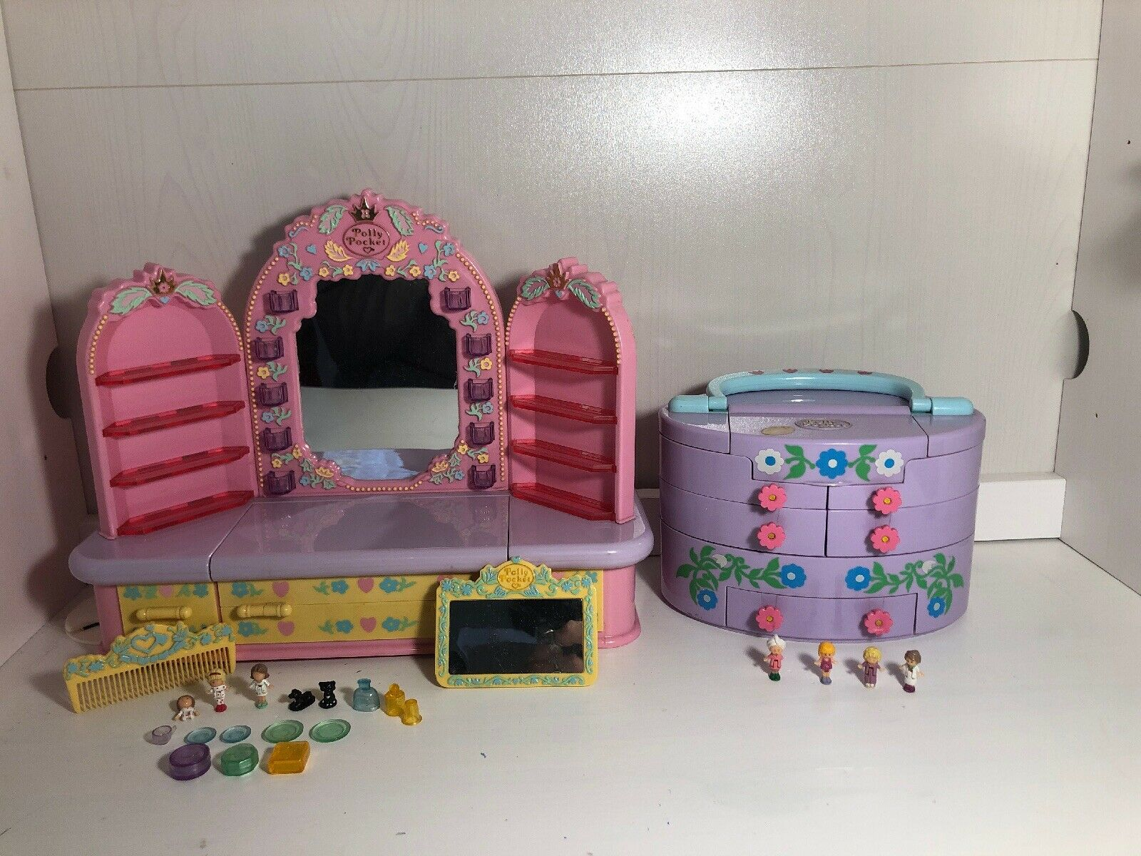 Polly Pocket Bundle Pijama Party Dressing Table Pullout Playhouse Variation