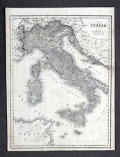 Carta geografica - Italia - Stabilimento Civelli - 1860 ca.