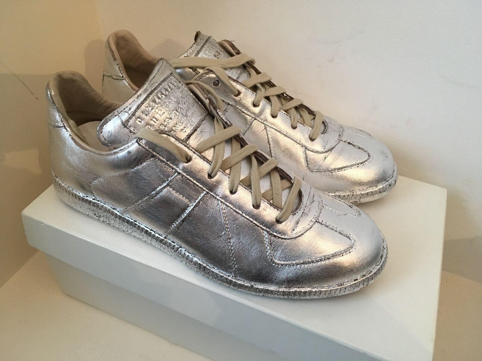Deadstock Maison Martin Margiela  Replica Low  Silver Foil Sneakers  Trainers