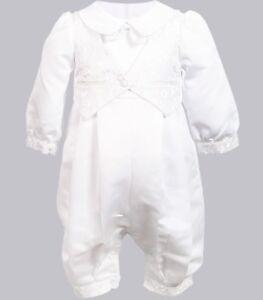 5bb2cc126e26 Boy baby Girl Kids white Long sleeves christening shower Romper ...