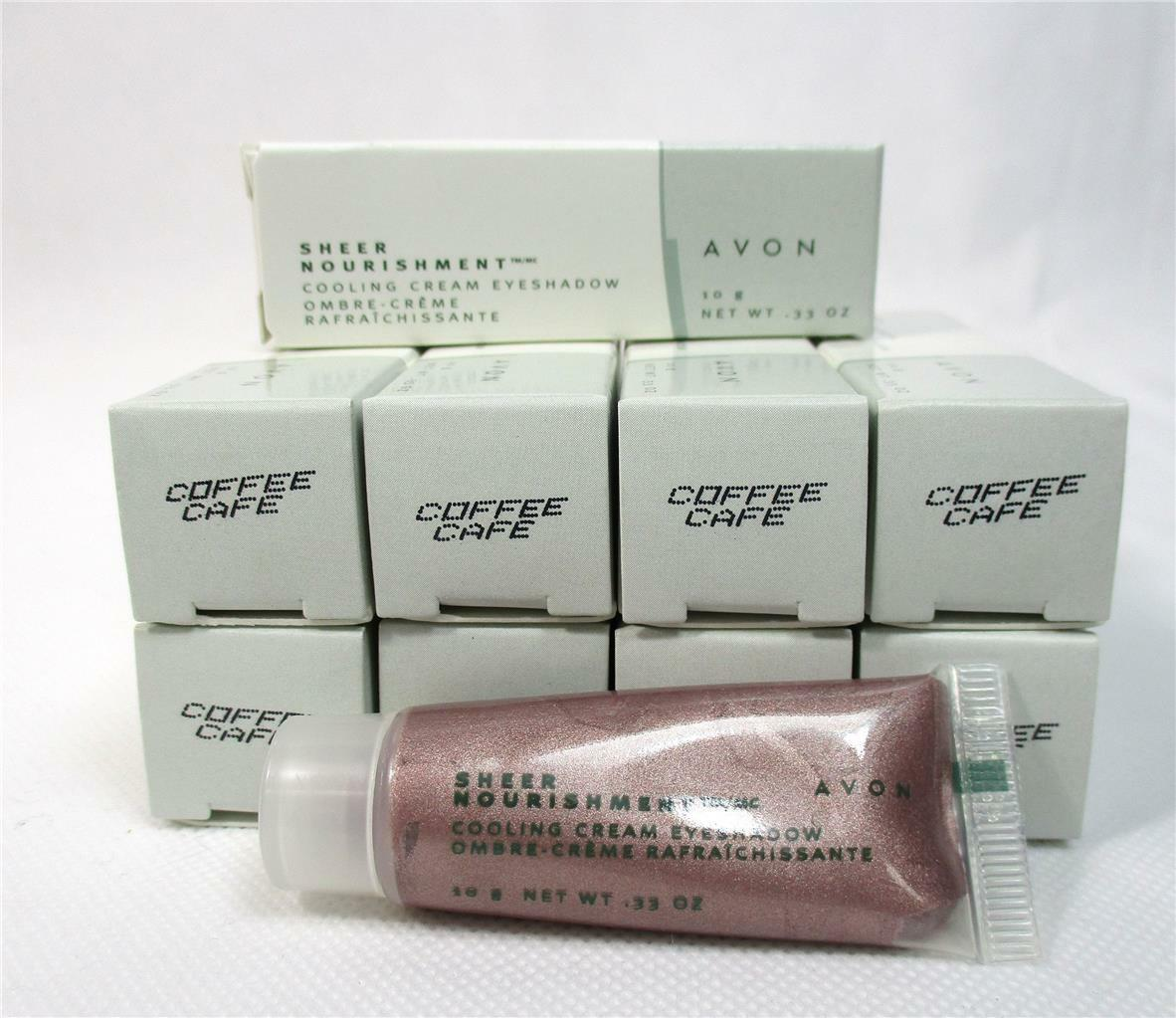 Lot Of 10 Avon Sheer Nourishment Coffee Cafe Cooling Cream Eye Shadow Makeup