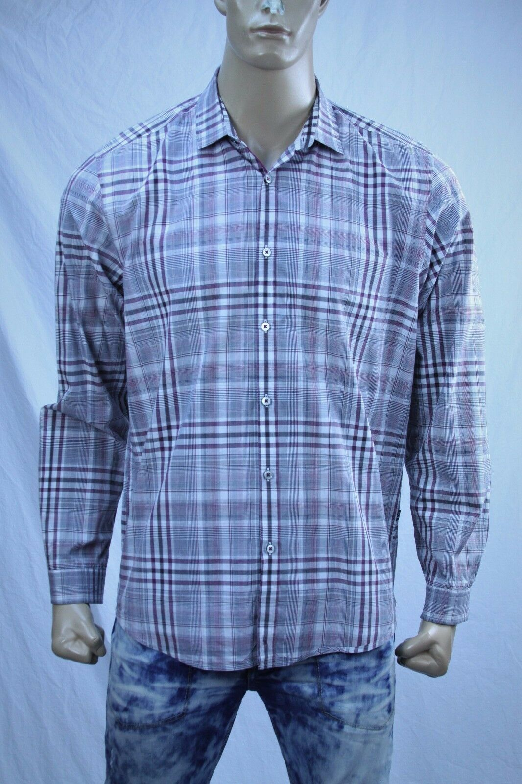 383e5c353ee Authentic Boss Hugo Boss casual cotton shirt US XL Men's nrklhy1883 ...