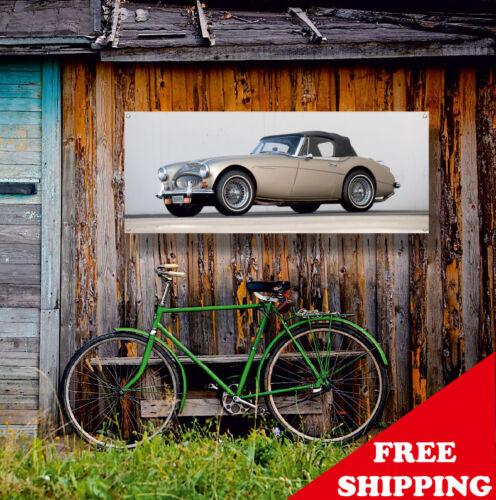 Austin Healey 300 1967 Banner Vinyl Sign Garage Decor Poster Gift Many Sizes