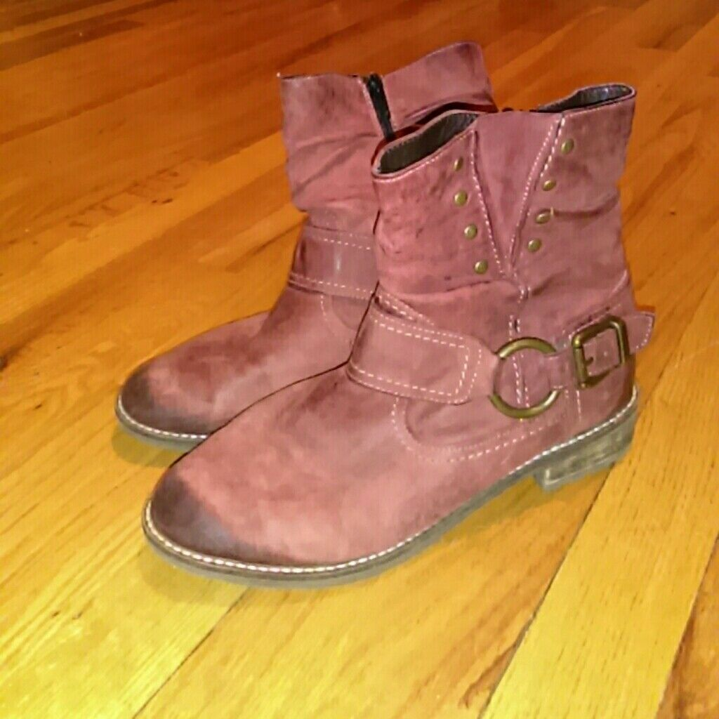 REMONTE DORNDORF red ankle boots sz 7