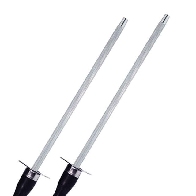 High Carbon Grit Diamant Messerschärfer Rod Küchen Wetzstahl Edelstahl Stick ~