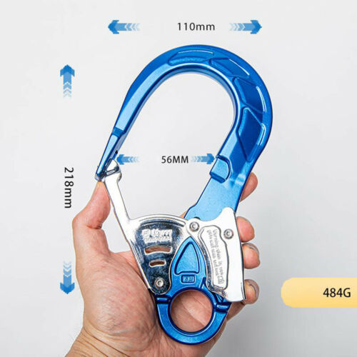 Large Lock Captive Eye Snap Hook Carabiner for Rock Tree Climbing Rescue 23KN