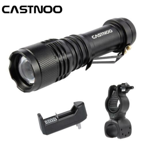 6000 Lumens 3 Modes LED Flashlight Torch Lamp Light Outdoor Tool AA BR