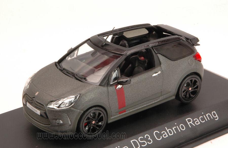 Citroen DS3 Cabrio Racing 2014 Gun gris 1 43 Model 155295 NOREV