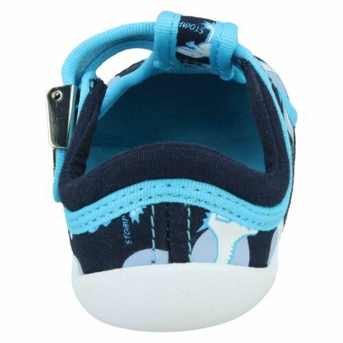 Baby Boys Clarks /'Roamer Sun/' Navy Interest Canvas First Shoe PreWalkers