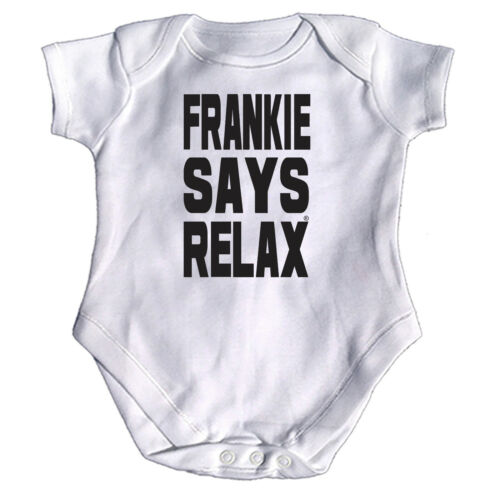 Frankie Says Relax Solid Funny Baby Infants Babygrow Romper Jumpsuit