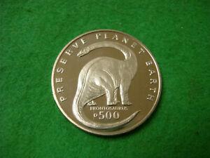 1993 Bosnie H Preuve Comme 500 Dinara Préserver La Planète Terre Brontosaure Bu-afficher Le Titre D'origine