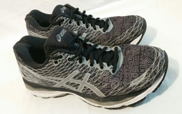 size 40 1c45d f9a31 ASICS Women's GEL Nimbus 18 Lite Show Running Shoes Black Silver Shark Size  9.5 | eBay