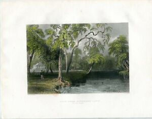 View-From-Glenmary-Lawn-Engraved-IN-1839-By-R-Wallis-Of-A-Drawing-Of-W-H-Barlet