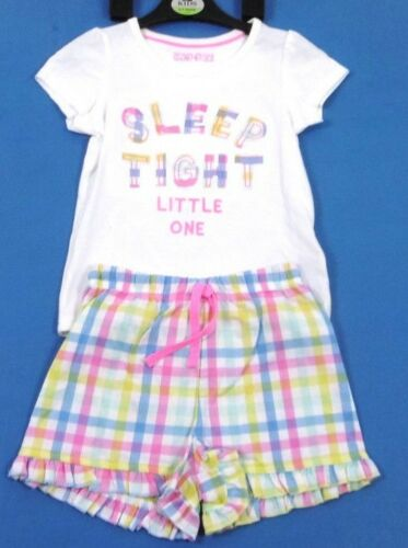 GIRLS KIDS EX M/&S SUMMER PYJAMAS SET SHORTS AND T-SHIRT NIGHTWEAR SLEEPWEAR