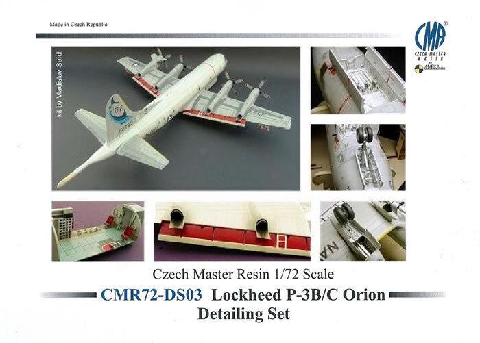 Czech Master hkonsts 1  72 P -3B  C Orion Detailing Set för Hasegawa DS03
