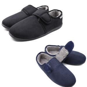 Mens Memory Foam Diabetic Slippers