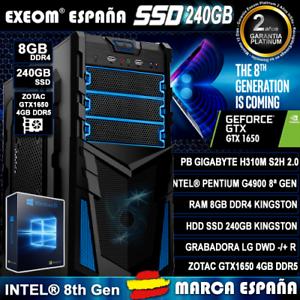 Ordenador-Gaming-Pc-Intel-Core-G4900-8GB-DDR4-SSD-240GB-GTX1650-4GB-De-Sobremesa