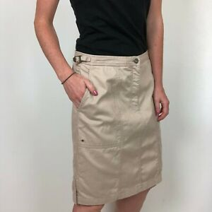 Lauren-Ralph-Lauren-Tan-Khaki-Knee-Length-Pencil-Skirt-Women-039-s-Size-8