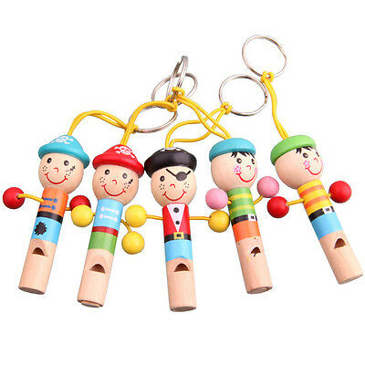 Cartoon Cute Baby Wooden Whistle Pirates Toy Musical decoration Toys Gift