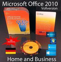 Microsoft Office Home and Business 2010 Vollversion Box + DVD Deutsch OVP NEU