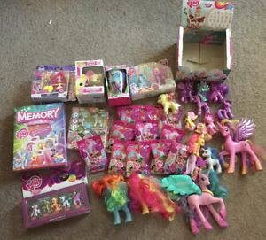 Huge-My-Little-Pony-Lot-MIB-FIM-G4-retired-Rare-34-piece-lot-talking-princesses