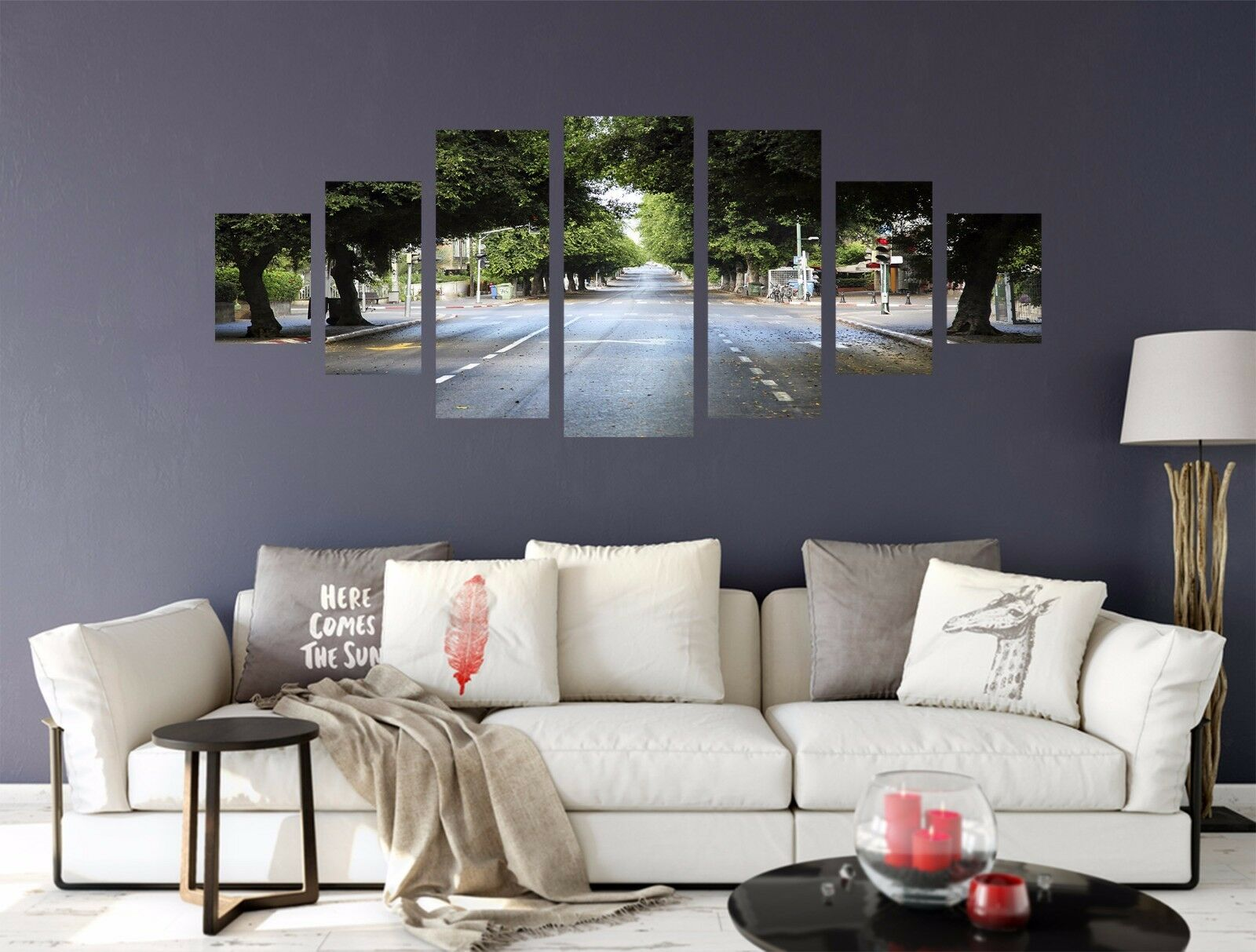 3D Boulevard Street 56 Unframed Print Wall Paper Decal Wall Deco Indoor AJ Wall