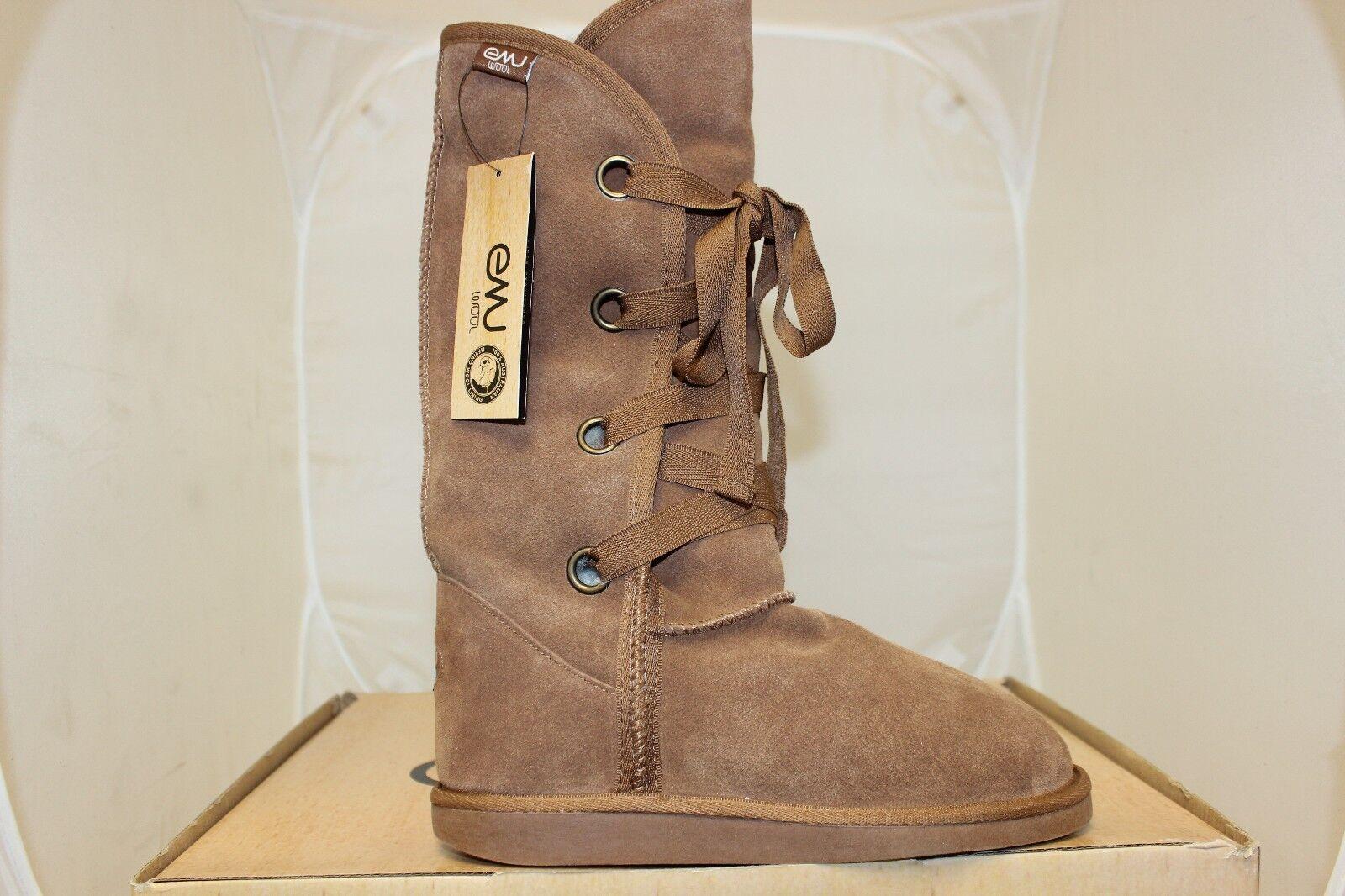 Women's Emu Shonel Boots Australian Merino Wool Winter Boots Chestnut W90092