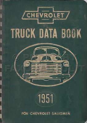 1951 Chevrolet Truck Daten Buch Chevy Fakten Händler Album Brille Zubehör