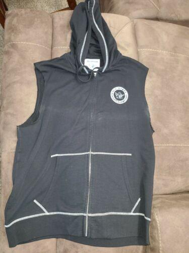 3xl True Religion Black Short Sleeved Sweat Jacket