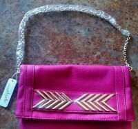 Charming Charlie Purse/ Pink With Gold Accents. .